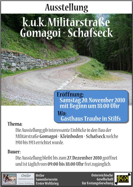 Ausstellung Militärstrasse Gomagoi - Kleinboden -Schafseck