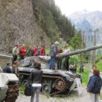 Panzergarten mit der Moeglichkeit in die Panzer zu steigen